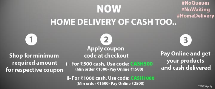 HOME DELIVERY OF CASH